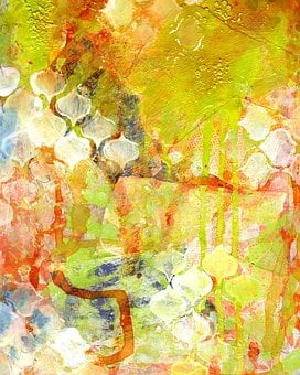 Abstract Background, Ink, Mixed Media, Design, Paint