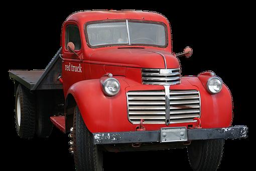 Truck, Pickup, Gmc, Red, Usa, Oldtimer, Pickup Truck