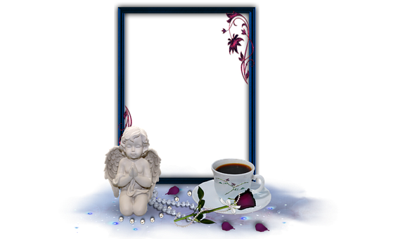 Angel, Frame, Good Morning, Picture Frame Isolated
