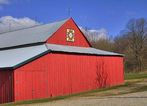 Barn, Rustic, Barns, Quilt, Quilt Barn, Red, Ohio