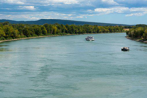 Rhône, River, Peniche, Boat, Beaucaire, Water, Nature