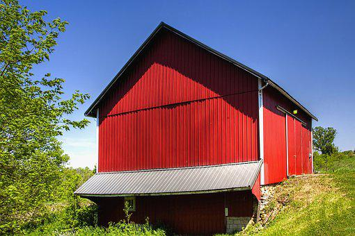 Barn, Rustic, Barns, Red, Wow, Ohio, Digital Art, Rural