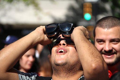 Solar Eclipse, Watching, Sun, Sunlight, Day, Filter