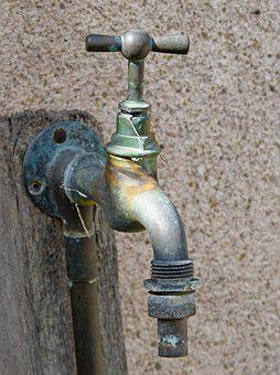 Tap, Old, Water, Drinking Water, Copper, Running Water