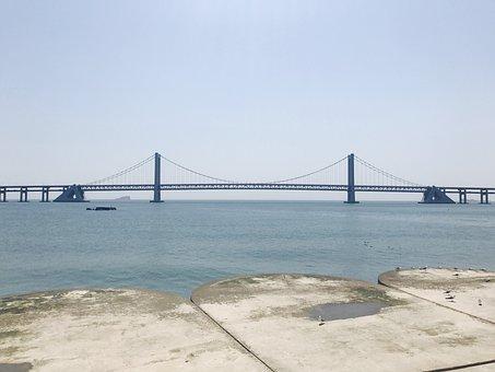 Dalian, The Sea, Bridge