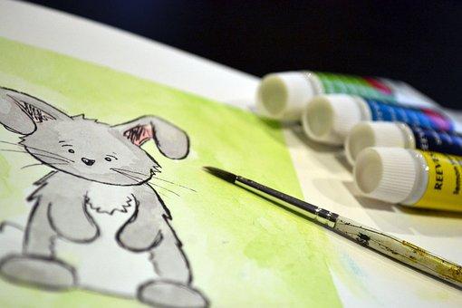Rabbit, Art, Paint, Watercolour, Watercolor, Bunny