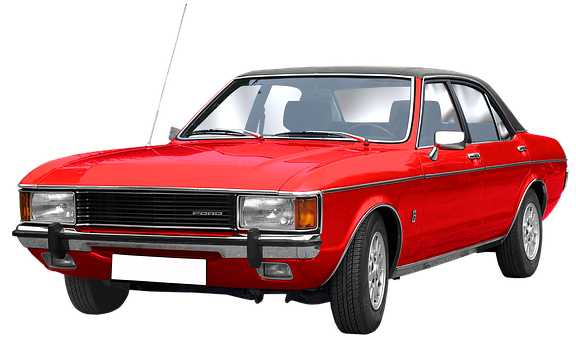 Ford, Granada Gl, Isolated, Limousine, 4 Doors