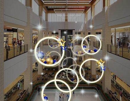 Light, Strap, Mall Mei Chen, Atrium Dp