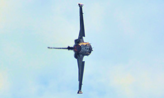Air Show, Stunts, Aircraft, F-16 Falcon, Aviation