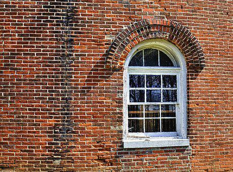 Nutwood, Barn, Window, Brick, Architecture, Wall, Old