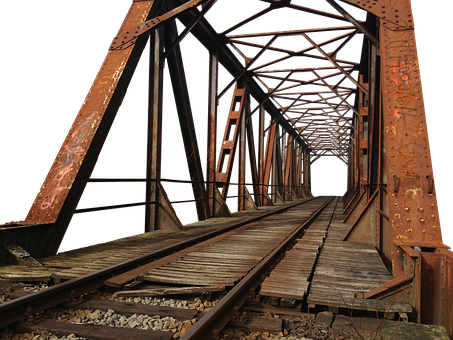 Bridge, Steel, Construction, Architecture, Metal Rods