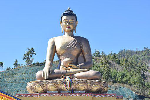 Buddha, Statue, Bhutan, Country, Religion, Buddhism