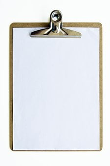 Clipboard, Paper, Clip, Business, Document, List