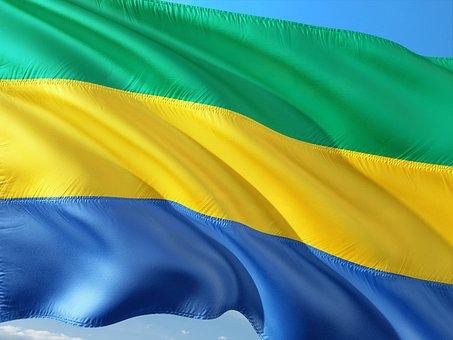 International, Flag, Gabon, Central Africa