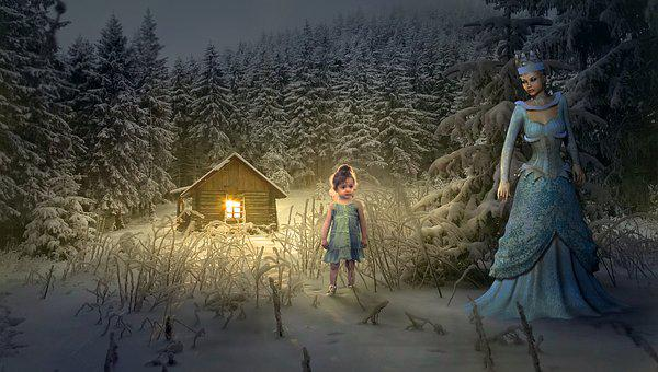 Fairy Tales, Fantasy, Forest, Home, Queen, Child, Girl