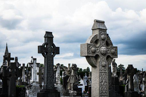 Glasnevin, Dublin, Ireland, Cemetery, Cross, Celtic