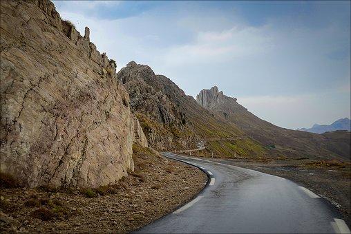 Tikjda, Kabilie, Algeria, Mountains, Rocks, Snow