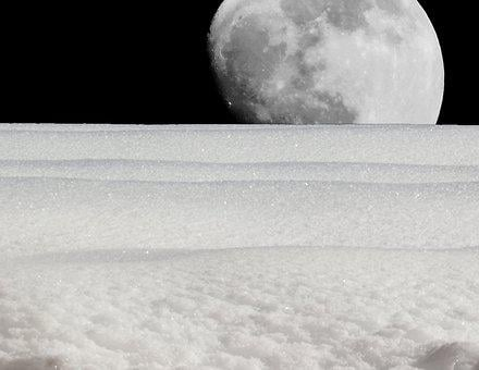 Moon, Luna, Landscape, Full Moon, Moonlight, Sky
