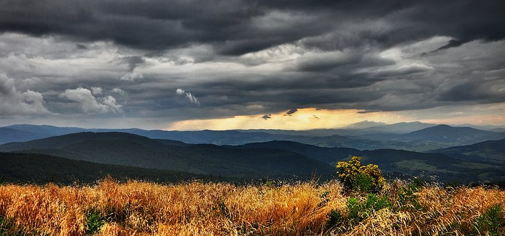 Landscape, View, Nature, Mountains, Beskids, Clouds