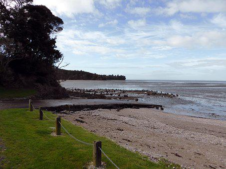 Mudflats, Beach, Low Tide, Auckland, New Zealand