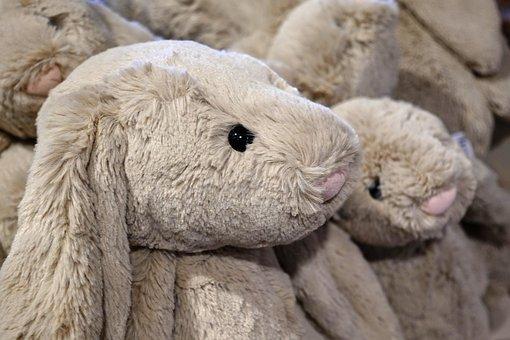 Toy, Fluffy, Rabbit, Stuffed, Bunny, Furry, Cute, Group