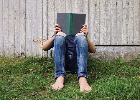 Person, Young, Reading, Outside, Summer