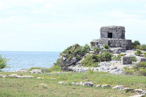 Tulum, Ruins, Maya, Mexico, Beach, Landscape