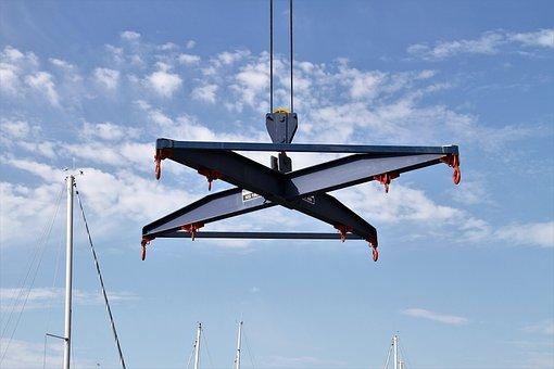 Boat Crane, Crane, Port, Ship Crane, Machine, Ship Port