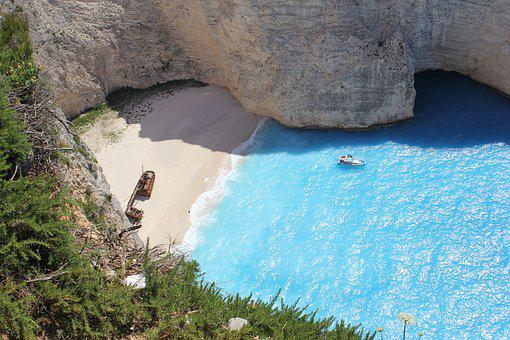 Zakynthos, Greece, Beach, Shipwreck