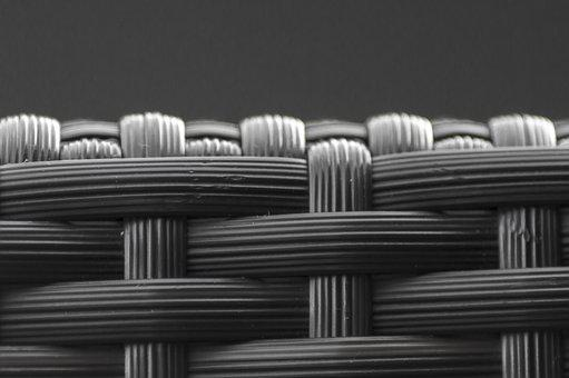 Braid, Black White, Macro, Grey, Structure