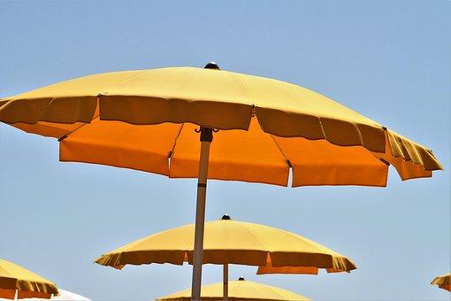 Sun Umbrella, Sun, Umbrella, Beach, Sunny, Summer