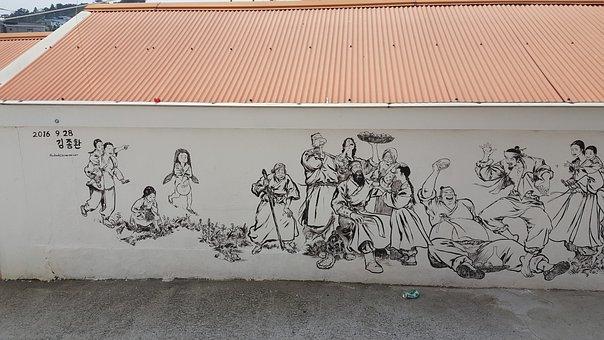 Mural, Tongyeong, Damme