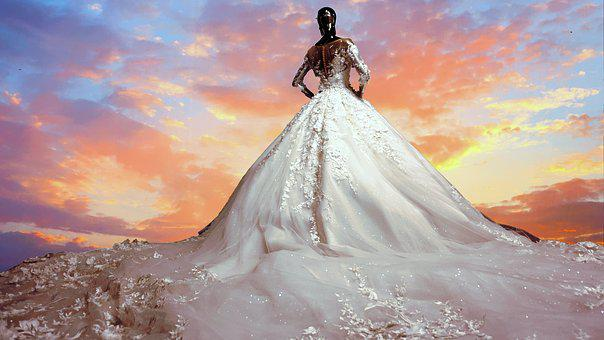 Wedding, Bride, Dress, Woman, Marriage, Love, White