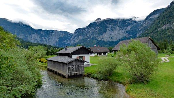 Obertraun, Austria, Mountains, Alps, Alpine
