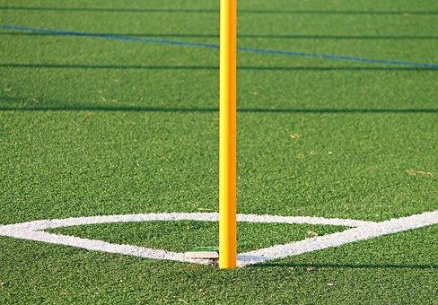 Football, Corner, Artificial Turf, Sport, Playing Field