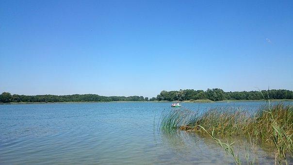 Lake, Water, Nature, Pond, Lagoon, Landscape, Boat