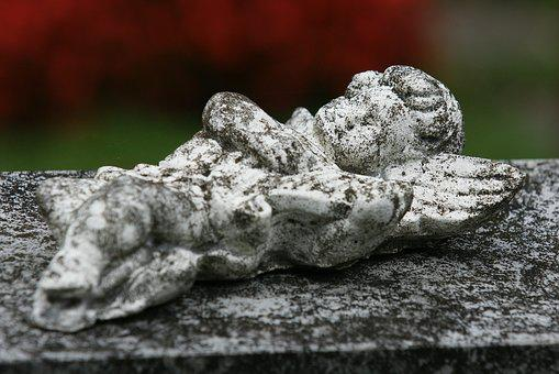 Angel, Angel Figure, Cemetery, Contemplative, Mourning