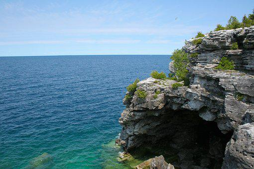 Coast, Rocks, Shore, Lake, Cave, Cliff, Coastline, Day