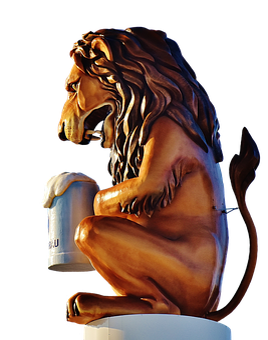 Lion, Figure, Oktoberfest, Munich, Beer Tent, Brewery