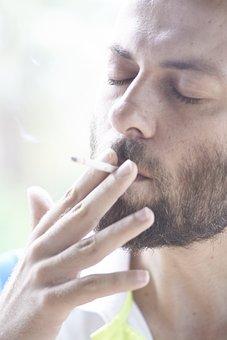 Male, Model, Cigarette, Drink, Beard, El, Finger, Jun