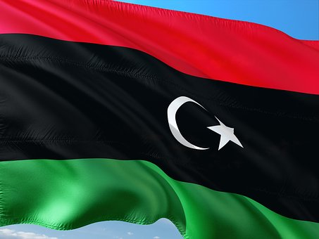 International, Flag, Libya, Lybia, North Africa