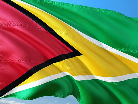 International, Flag, Guyana, South America