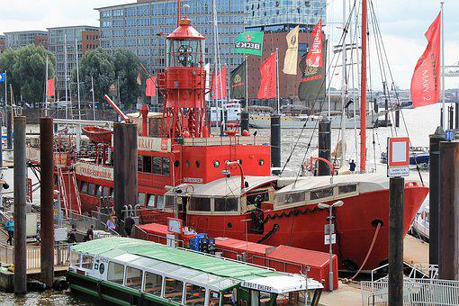 Port, Lightship, Elbe Philharmonic Hall