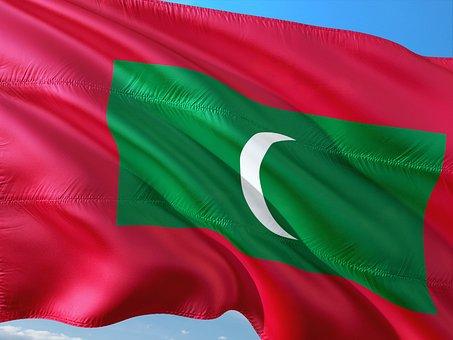 International, Flag, Maldives, Island State