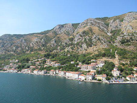 Mountain, Kotor, Montenegro, Maritime City, Bay