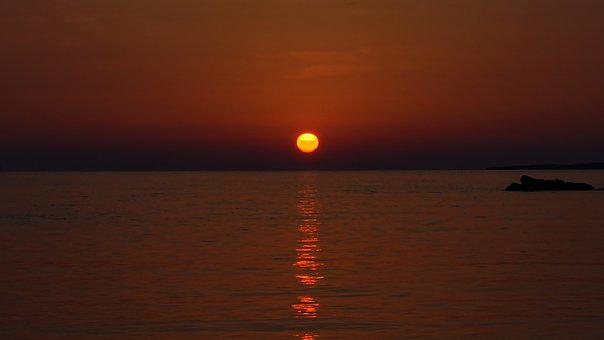Sunrise, Mediterranean, Beach, Coast, Mallorca