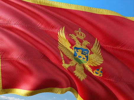 International, Flag, Republic, Montenegro