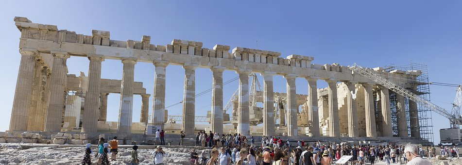 Athens, Monuments, Greece, Sculpture, Column, Olympics