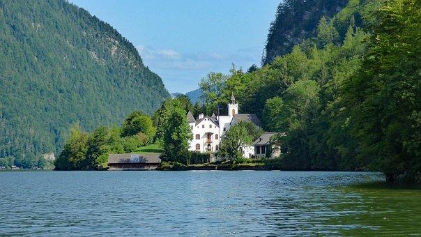 Obertraun, Austria, Schloss Grub, Alpine, Architecture