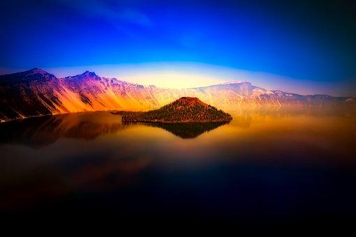 Crater Lake, Oregon, Mountains, Landscape, Tourism
